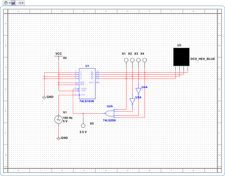Schematic Counter Digital Electrical Wiring Diagram